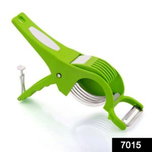 7015 2-in-1 Veg Cutter with Stainless Steel Blade (Multicolours) - DeoDap