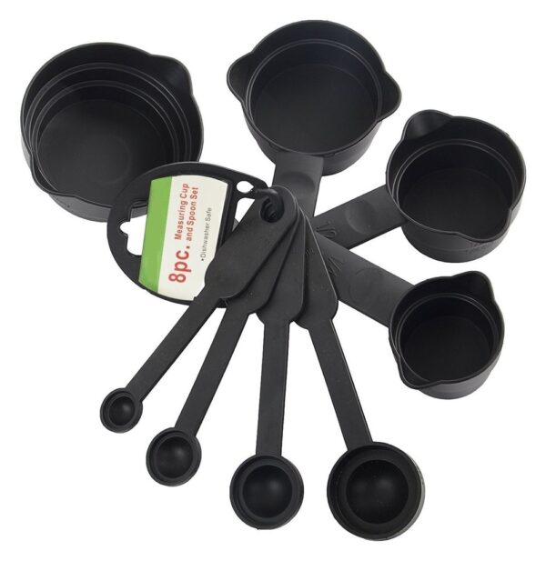 2190 Plastic Measuring Cups and Spoons Set with Box (8 pcs) - Bulkysellers.com