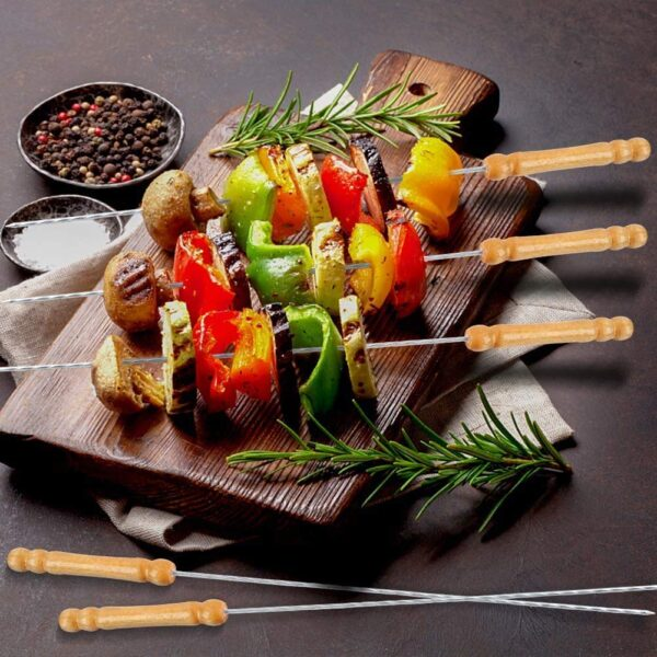 2224 BBQ Tandoor Skewers Grill Sticks for Barbecue (Pack of 12) - Bulkysellers.com
