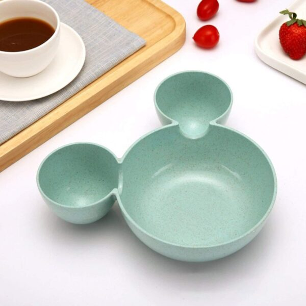 0843 Mickey Shaped Kids/Snack Serving Sectioned Plate - Bulkysellers.com