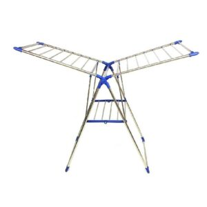 0731 Adjustable Stainless Steel 2-Wings Foldable Butterfly Cloth Drying Stand/Rack - Bulkysellers.com