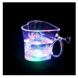 0759 Heart Shape Activated Blinking Led Glass Cup - Bulkysellers.com