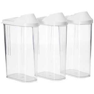 2166 Transparent Plastic Air Tight Food Storage Container Jar Dispenser for Kitchen - 1100 ml (Set of 3) - Bulkysellers.com