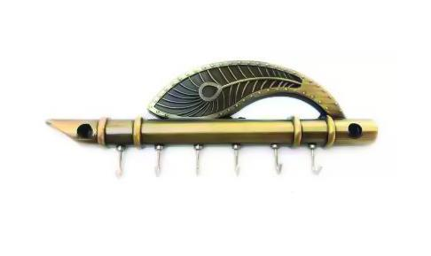 0496 Flute And Feather Shaped Wall Hook Key Holder - Bulkysellers.com