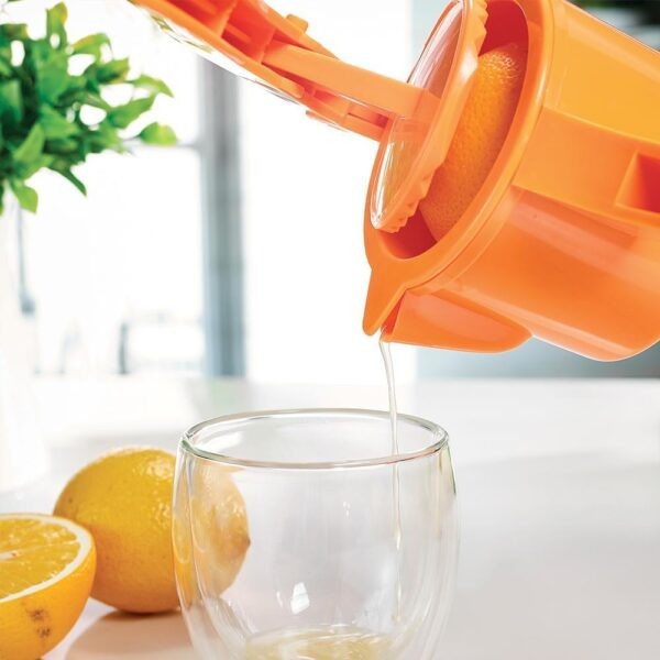 2194 2 in 1 Lemon Squeezer Manual Hand Squeeze Tool and Juicer - DeoDap