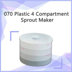 0070 Plastic 4 Compartment Sprout Maker, White - Bulkysellers.com