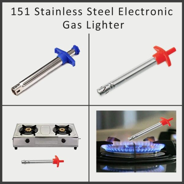 0151 Stainless Steel Electronic Gas Lighter - Bulkysellers.com