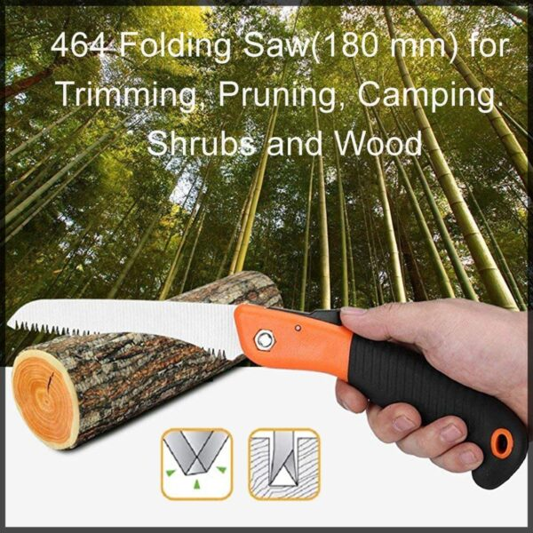 0464 Folding Saw(180 mm) for Trimming, Pruning, Camping. Shrubs and Wood - Bulkysellers.com