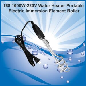 0188 1000W-220V Water Heater Portable Electric Immersion Element Boiler - Bulkysellers.com