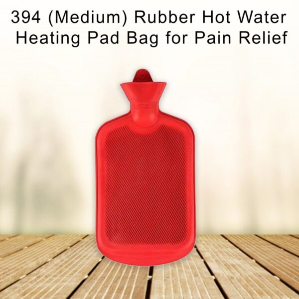 0394 (Medium) Rubber Hot Water Heating Pad Bag for Pain Relief (750 ML) - Bulkysellers.com