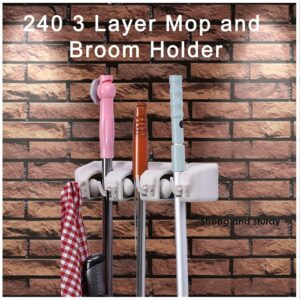 0240 3 Layer Mop and Broom Holder - Bulkysellers.com