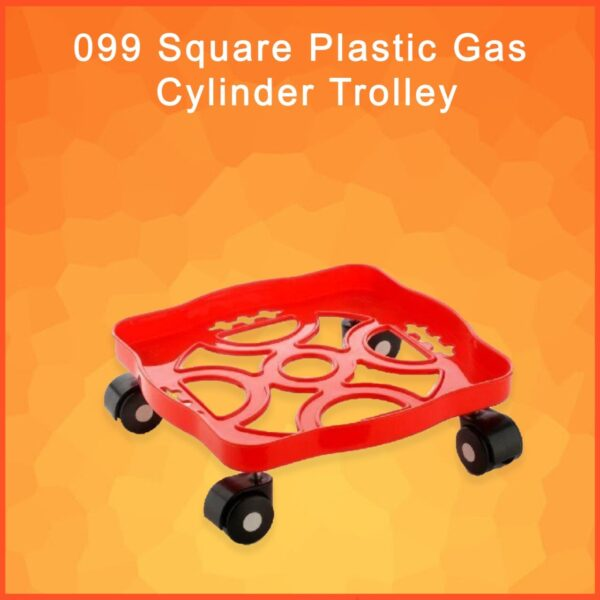 0099 Square Plastic Gas Cylinder Trolley - Bulkysellers.com
