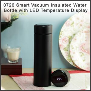 0726 Smart Vacuum Insulated Water Bottle with LED Temperature Display - Bulkysellers.com