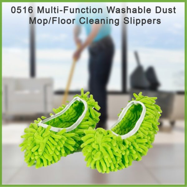 0516 Multi-Function Washable Dust Mop/Floor Cleaning Slippers - Bulkysellers.com