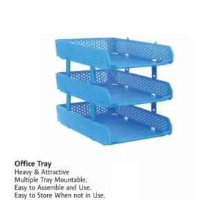 0329 Foldable Tray Desk Organizer File Tray, Office Files, Letter Tray, Magazine Holder Rack, Document Tray, for Home Study Room Office, Stationery - Bulkysellers.com