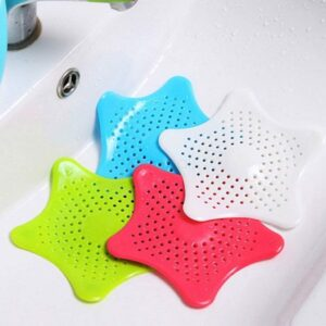0829 Silicone Star Shaped Sink Filter Bathroom Hair Catcher Drain Strainers for Basin - Bulkysellers.com