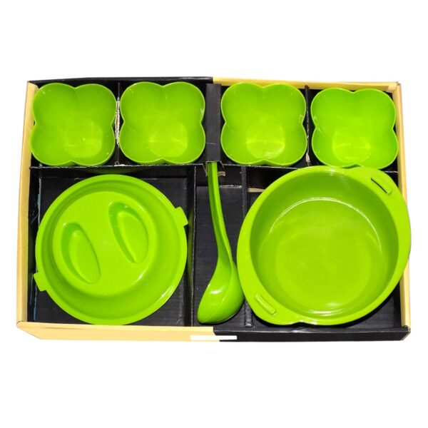 2329 Stain resistant Flora Pudding set for Kitchen  (Set of 7) - DeoDap