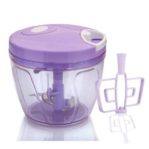 2180 Manual 2in1 Handy 1 Litre Plastic Dori Chopper, Cutter with SS Blades and Whisker Blade - Bulkysellers.com