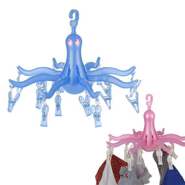 0336 Small Octopus Folding Hanging Dryer Round Folding with 16 Pegs  (Multicolor) - Bulkysellers.com