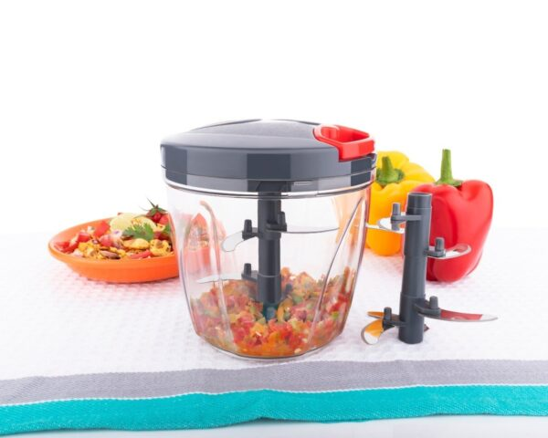 2197 Vegetable Chopper, Cutter, Mixer for Kitchen with 6 Stainless Steel Blade (900 ML) - Bulkysellers.com