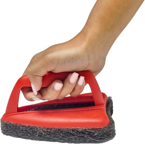 1403 Bathroom Brush with abrasive scrubber for superior tile cleaning - DeoDap