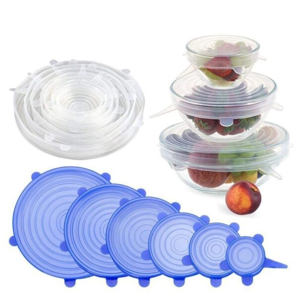 2118 Silicone Lid Set, Silicon lids for containers, Silicon Stretchable lids, Silicone lids and Cover - Bulkysellers.com