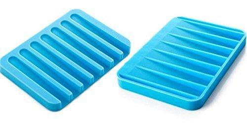 0810 Silicone Soap Holder Soap Dish Stand Saver Tray Case for Shower - Bulkysellers.com