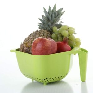 2097 Vegetables and Rice Plastic Washing Bowl with Handle - Bulkysellers.com